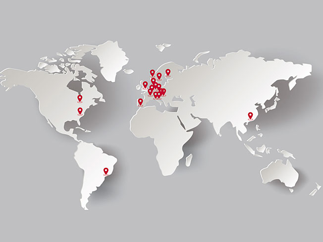 Vertriebs Weltkarte